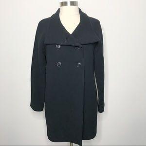 J.Crew Bonbon Coat Black Wool Double Cloth Jacket